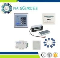 Teclado directo de fábrica RFID sistema de control de acceso de la puerta del sistema de etiquetas 60 kg 12 v puerta de madera cerradura magnética eléctrica kit de seguridad