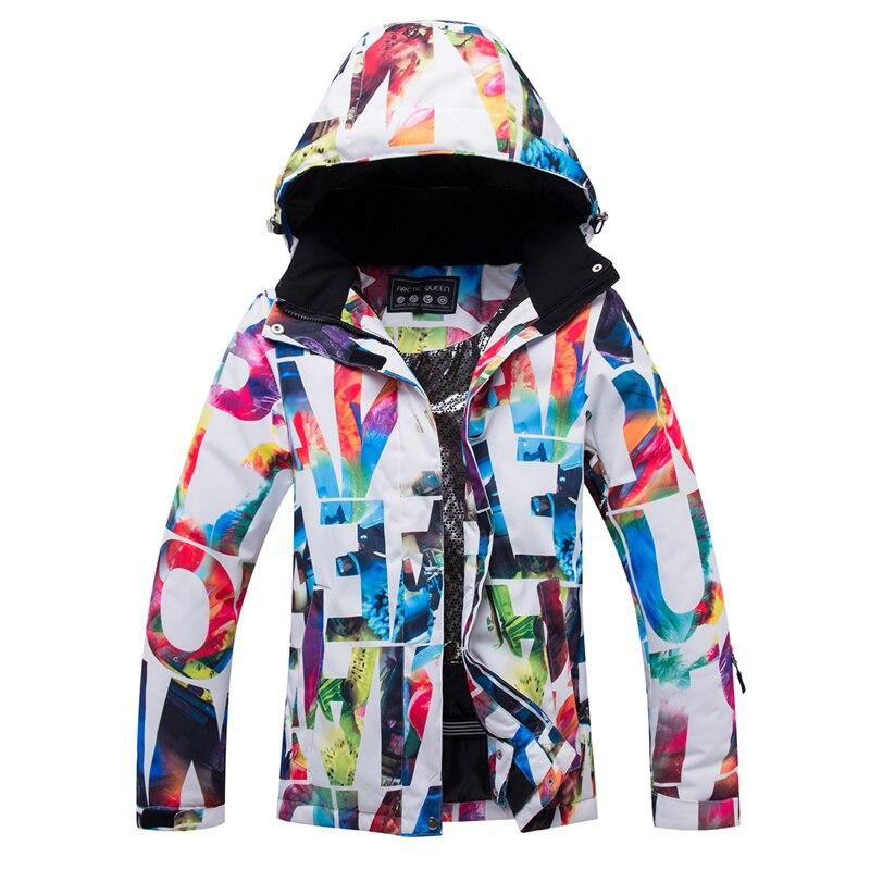 Free Shipping Professional Women Ski Jacket, Exports Russia Professional Jacket, Super Warm, Waterproof And Windproof Ski Jacket