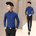 "Autumn long-sleeved shirt men ""s shirt Slim models of youth pure white-inch shirt male work-professional shirt men do210"