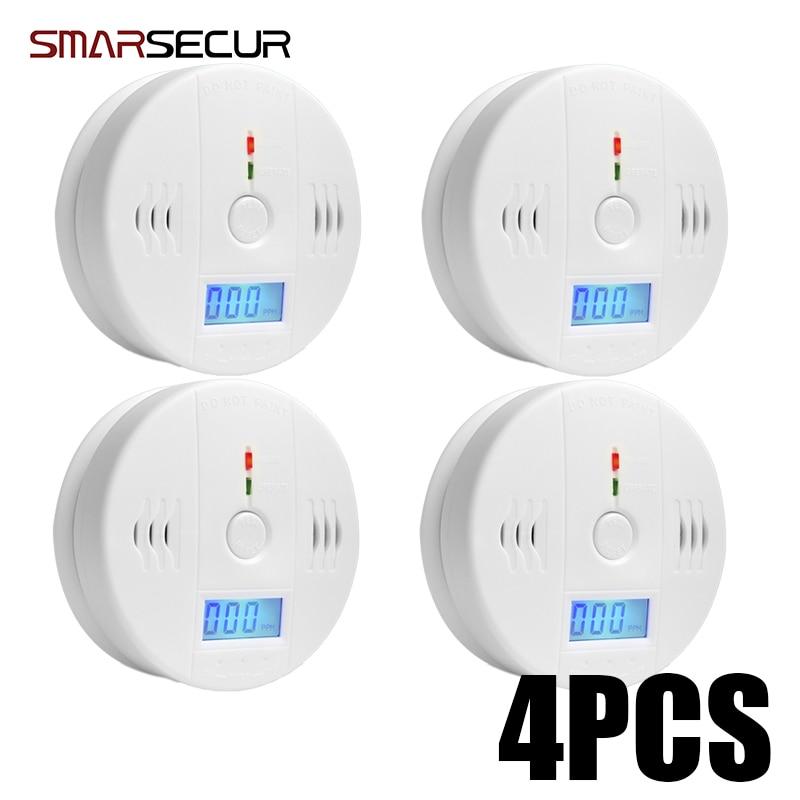 Smarsecur Digital 85dB Warning High Sensitive LCD Photoelectric Independent CO Gas Sensor Carbon Monoxide Poisoning Detector