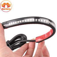 Universal Motorcycle Light Strip Tail Brake Stop Turn Signal Integrated 3528 Pasted 32 LED For Truck