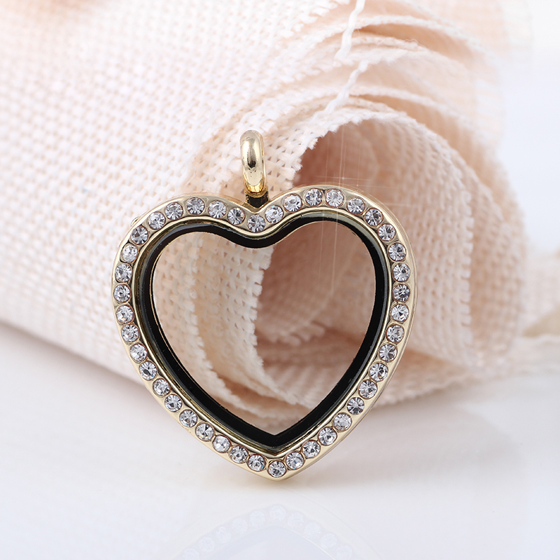 magnetic gifts floating girls locket charm round women glass lockets memory for necklace pin chains
