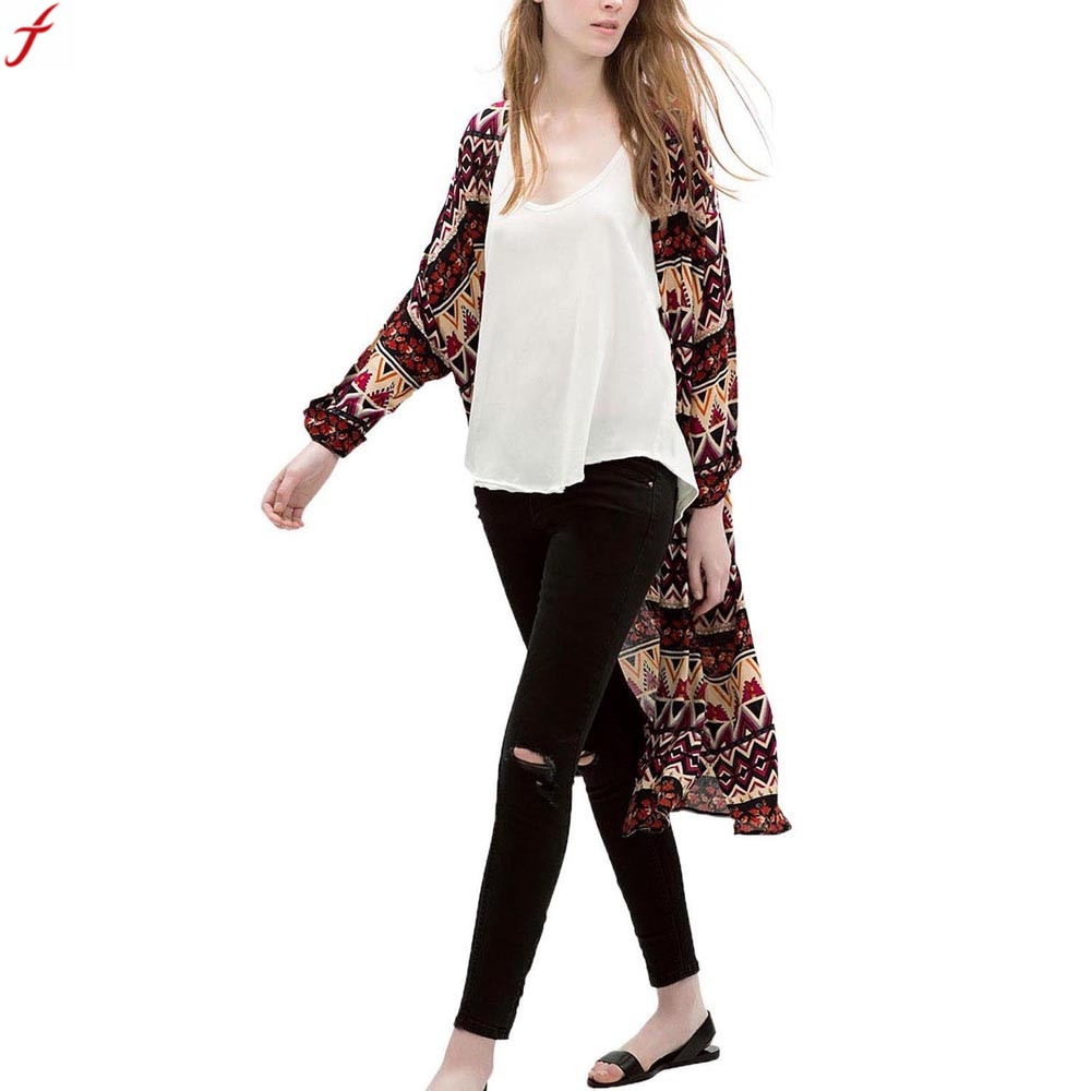 Aliexpress.com : Buy Women Geometric Print Kimono Cardigan Women ...