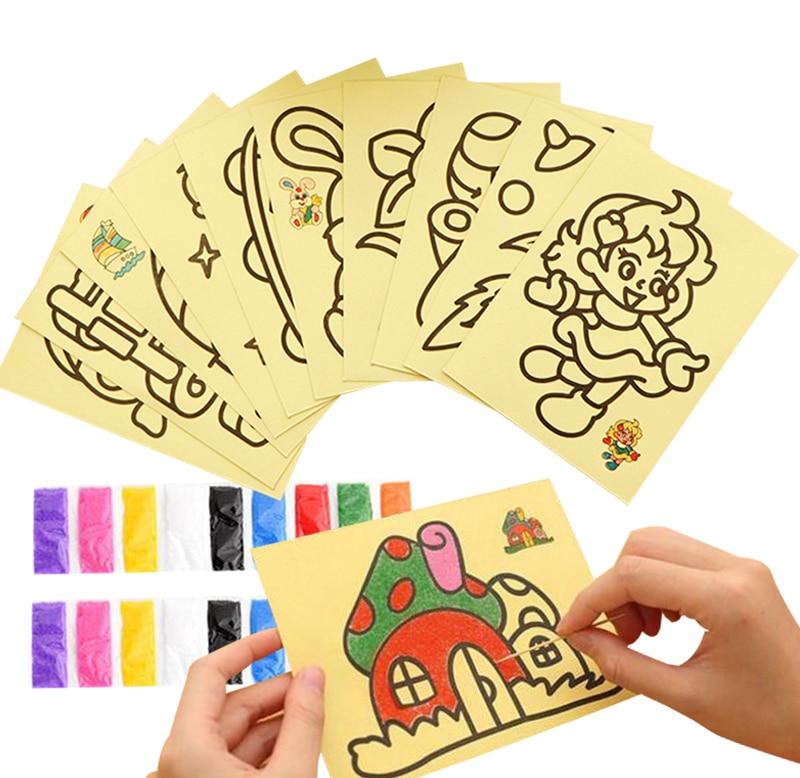 20 шт/10 шт магический скретч-арт-блокнот для рисования песком карты для раннего обучения, творческие игрушки для рисования для детей GYH
