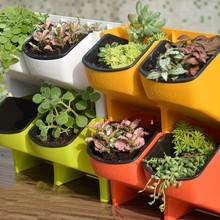 Wall Planter Flower Pot Stackable Garden Plant Bonsai Household Items Pots Hanging Vertical Succulents