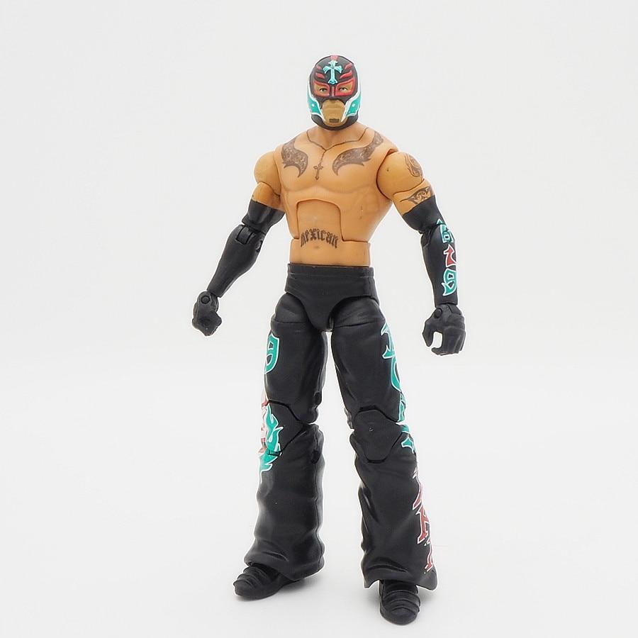 Wrestling Gladiators Action Figures Wrestler Building Blocks Super Heroes Kids Gift Toys Rey Mysterio 619 Black