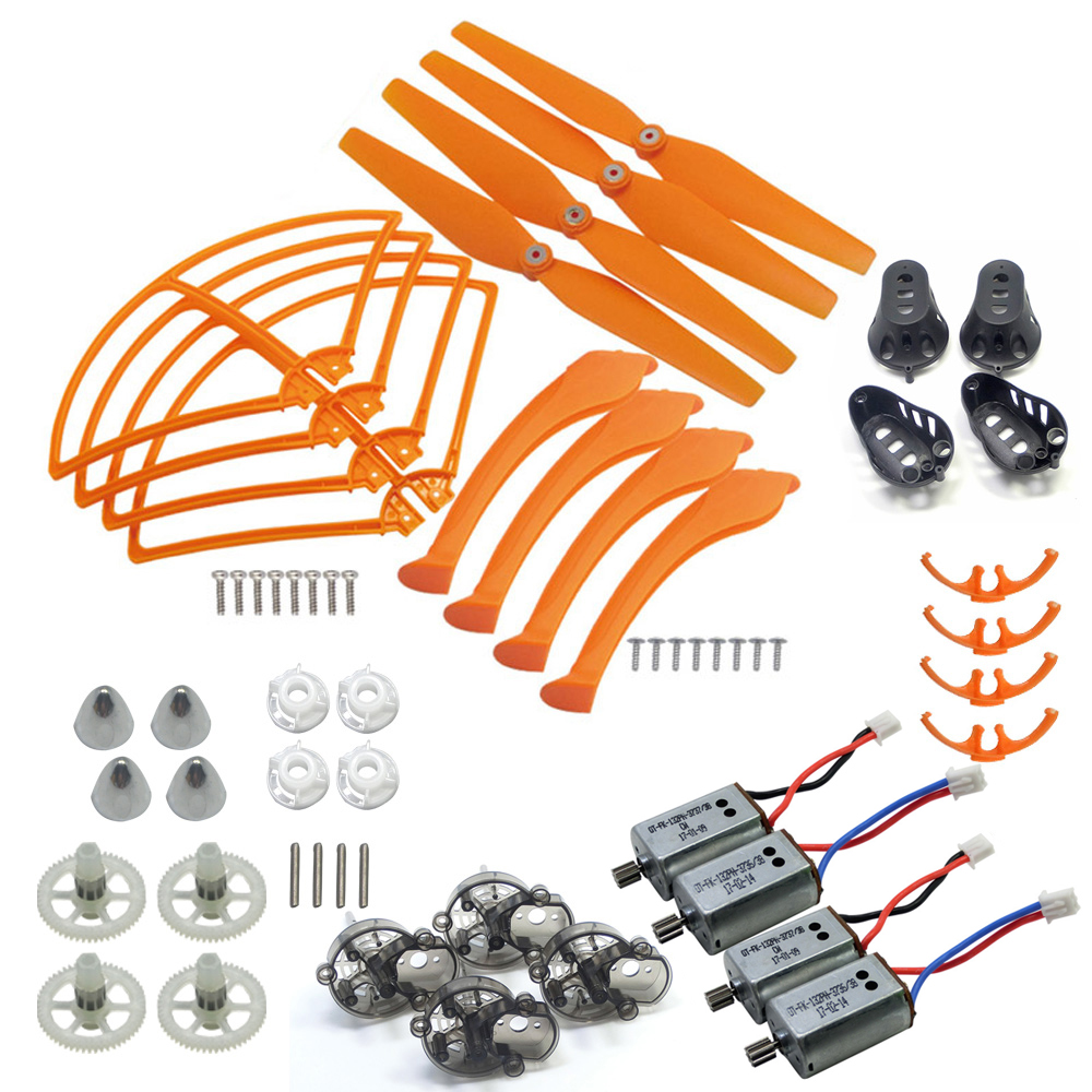 Full Set SYMA Spare Parts For X8C X8W X8G X8HC X8HW X8HG Propeller Gear Motor Frame Landing Gear Cover ect. rc drone spare parts blade landing gear propeller protection for syma x8c x8w x8g x8hc x8hg quadcopter accessories propeller kit