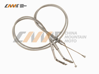 43 1/2 Throttle Cable Stainless steel case for 96 10 Harley Dyna Road King FLH/T/ST