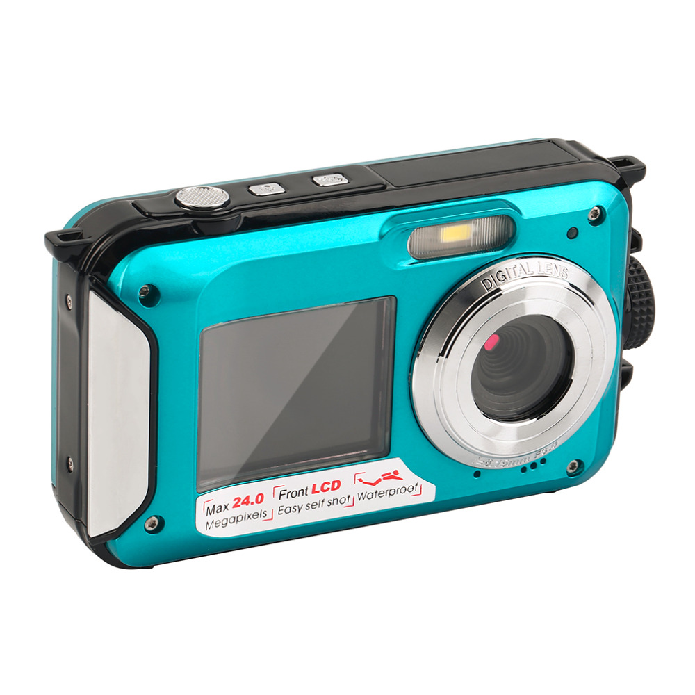 New 2.7 inch TFT Digital Camera Waterproof 24MP MAX 1080P Double Screen 16x Digital Zoom ...