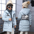 Baby girls long duck down coat for Winter clothes girls boys Jackets Baby boys winter outwear kids warmly clothes for 7-13 years