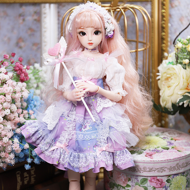 Fortune Days Diary Queen 1/4 BJD joint body Teresa with makeup including clothes shoes hair exquisite gift box toy,SD