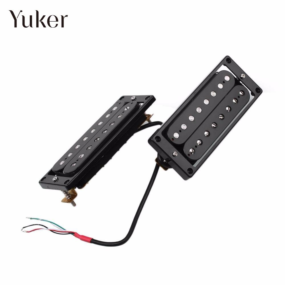 2 X 8 Strings Double Cord Wire Humbucker For Electronic Guitars Pickup Frames