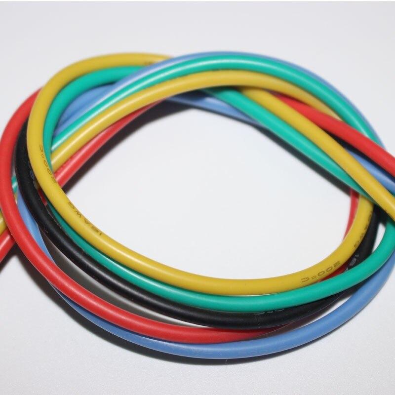 25 メートル = 5 メートル × 5 色 14AWG シリコーンワイヤー超 Flexiable ケーブル 2mm2 高温試験ラインワイヤー  グループ上の ライト & 照明 からの ワイヤー & ケーブル の中 1
