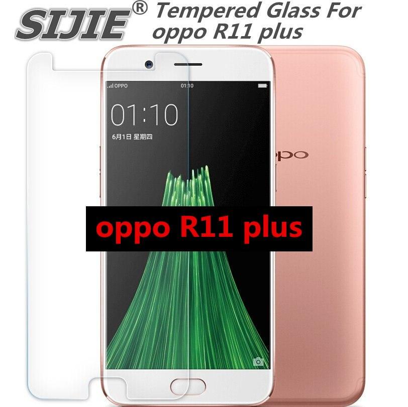 R11 plus capa protetor de tela de Vidro temperado Para oppo caso smartphone temperado 9 H em cristais fino claro Transparente
