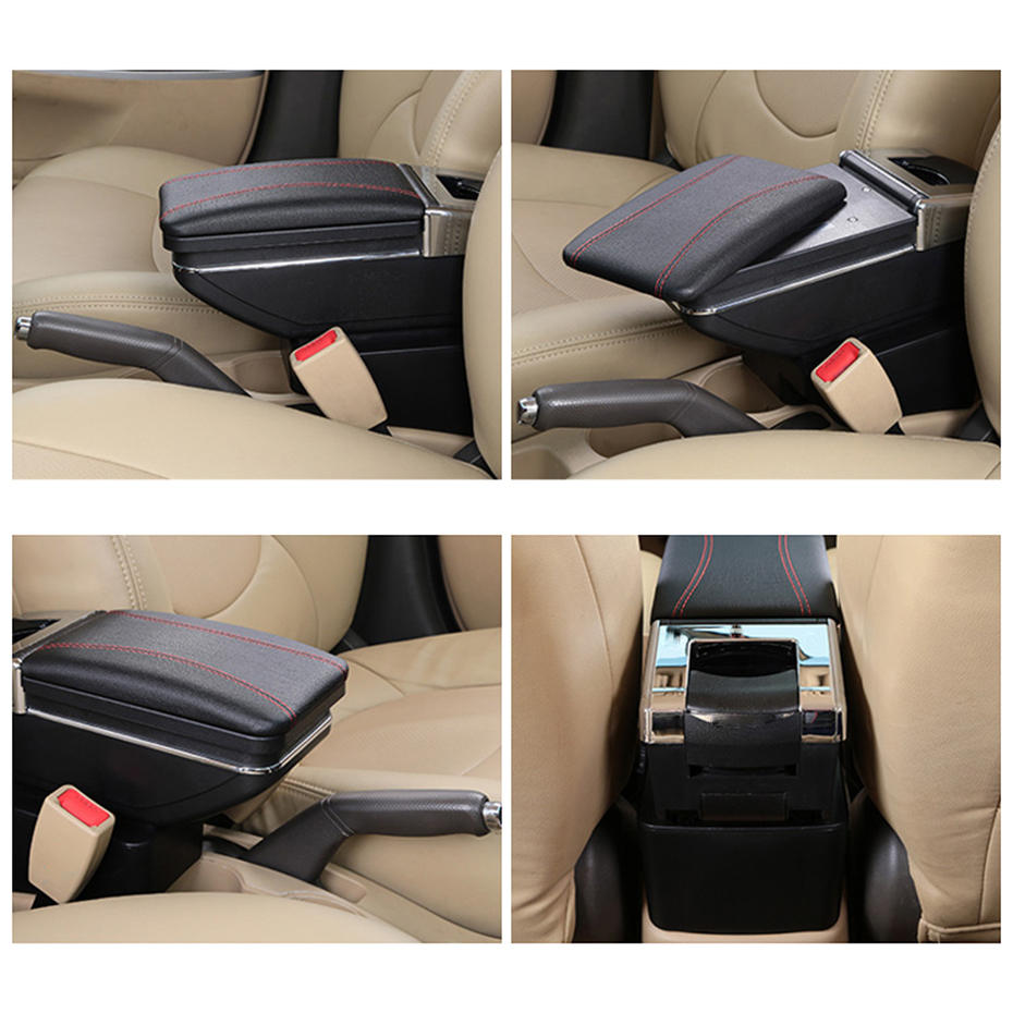 Image 2 - Arm Rest For Kia Rio 4 2017 2018 2019 X Line Center Centre Console Storage Box Armrest Rotatable Leather Car Styling-in Armrests from Automobiles & Motorcycles