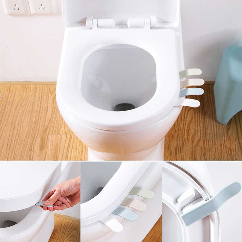 Draagbare Kleine Toilet Seat Cover Lifter Sanitaire Closestool Seat Cover Lift Handvat voor Reizen Thuis Badkamer Accessoires Dropship