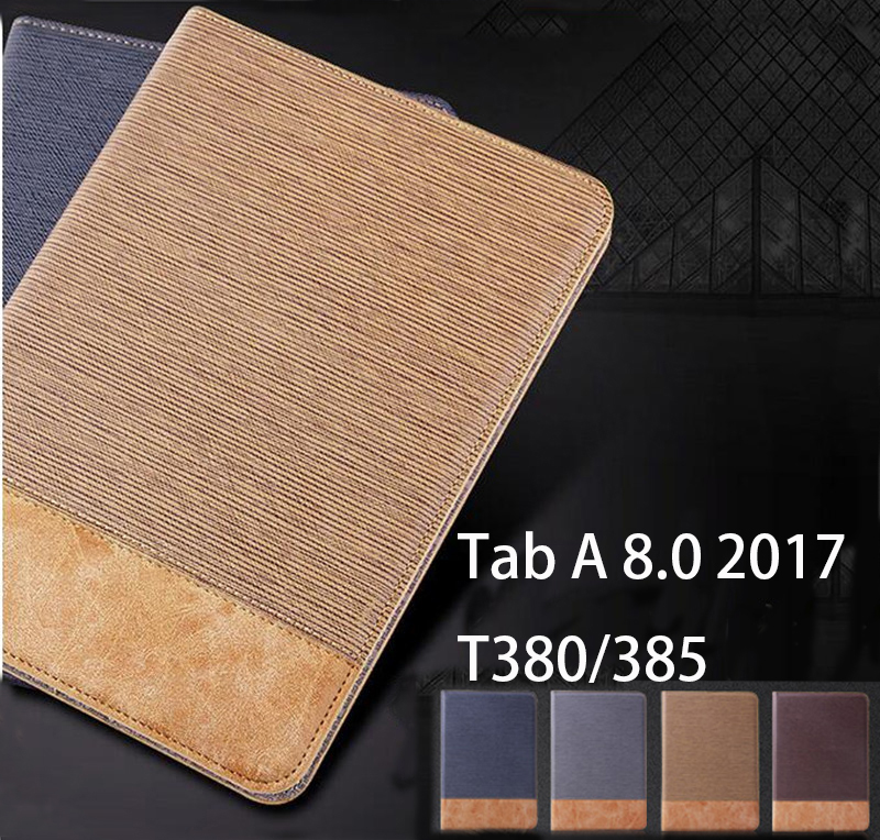 Magnet Luxury Stand pu Leather Case Cover For Samsung Galaxy Tab A 8.0 2017 T380 T385 SM-T385 tablet funda cases  samsung tab a 8.0 case | Galaxy tab A 8.0 flip / book snap on cover [official/original] Magnet Luxury Stand pu Leather font b Case b font Cover For font b Samsung b