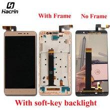 Продажа ЖК-дисплей Экран для Xiaomi Redmi Note 3 ЖК-дисплей с сенсорным Панель Замена для hongmi Note 3 Pro + рамка мягкая ключ подсветка