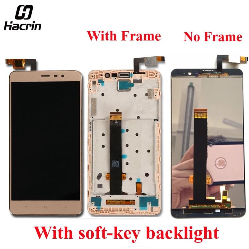 Schermo LCD Per Xiaomi Redmi Nota 3 lcd display Con Touch pannello di Ricambio Per hongmi Note 3 Pro + Frame soft-retroilluminazione dei tasti