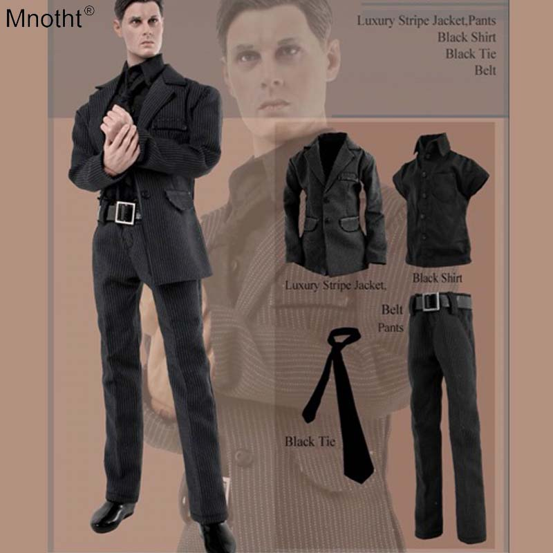 Mnotht 1/6 male clothing suit model CC187 striped cool colthes accessory toys for 12'' doll body soldier action figure  ma mnotht 1 6 action figure panzer third
