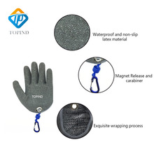 1pc Topind Fish catching gloves Anti slip fish proof waterproof PE wire woven latex Fishing Gloves Fishing tools