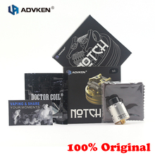 E-cigs Atomizer Advken Notch RDA 24MM Atomizer Tank Knurled Top Caps fitting 510 E-cigarette box mod Vape Tank vs Manta RDA стоимость