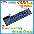 Nueva original de la batería para acer aspire timeline ultra m3-581tg u ma50 ap12a3i ap12a4i m5 m5-481tg baterías 4850 mah 11.1 v 54wh