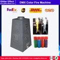 4 струйный цветной проектор с пламенем  DMX512  шестиугольная сценическая диско-машина для дискотек  шоу  специальный эффект  распылитель  цвет...