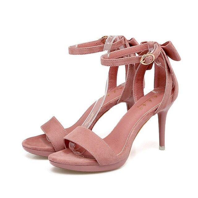 2018 Sexy women sandals open toe Suede heels classic buckle strap platform woman sandals gladiator shoes women high heels