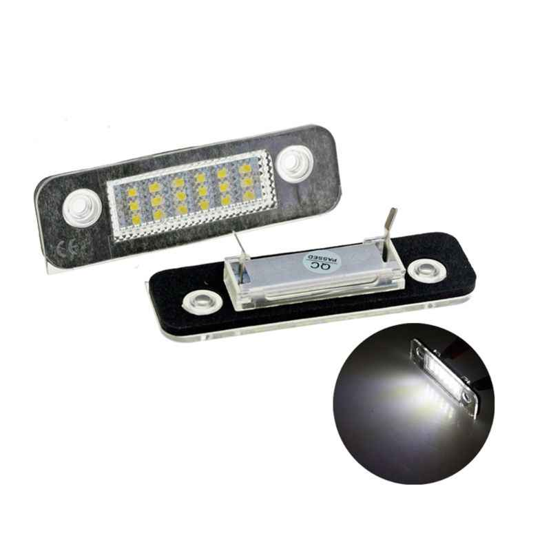 2Pcs 12V 18 LED Car License Plate Light White Number Plate Lamps Light SMD For Ford Fusion for Mondeo/MK2 for Fiesta MK5