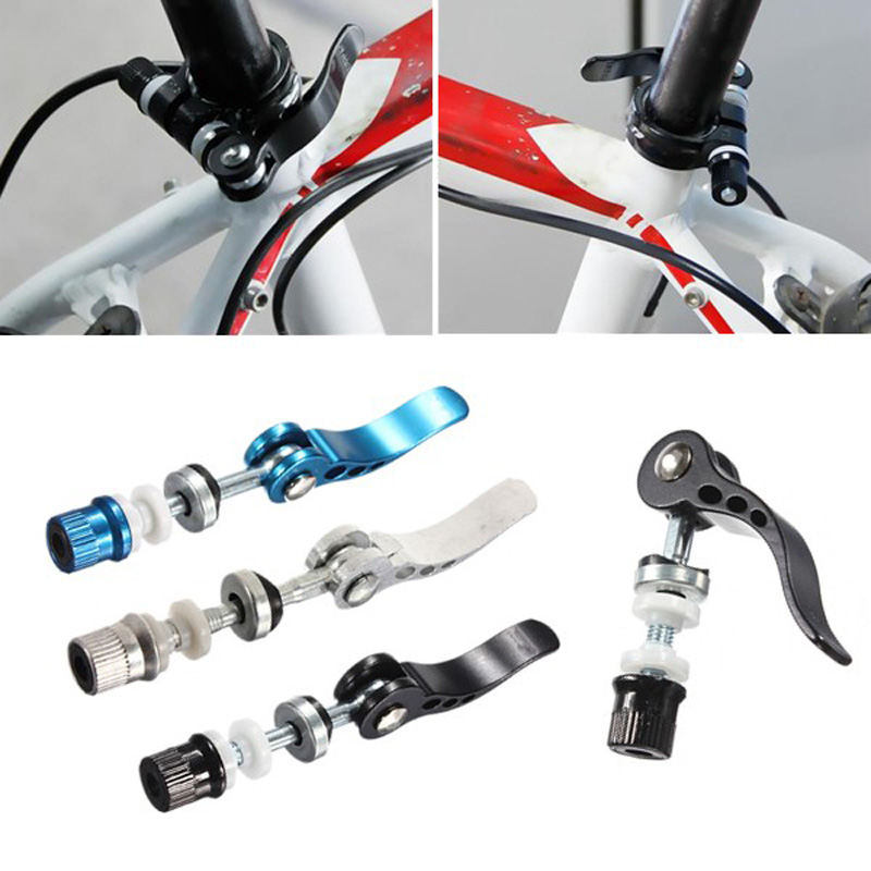 Aluminium Alloy Quick Release Bike Seat Post Clamp Seatpost Adjust Skewer Bolt