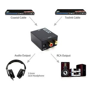 Image 5 - Optik koaksiyel Toslink dijital Analog ses dönüştürücü adaptör RCA L/R 3.5mm