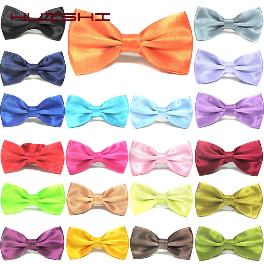 Huishi Biru Pink Pria Pria Dasi Kupu-kupu Adjustable Tuxedo Baru Bow Tie Dasi Fashion Dasi Kupu-kupu Bisnis Pernikahan Pria Kemeja