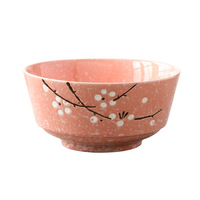 Japanese and Korean style hand painted glazed ceramic tableware 8 inch round domestic meal bowl Dagong soup bowl noodles bowl