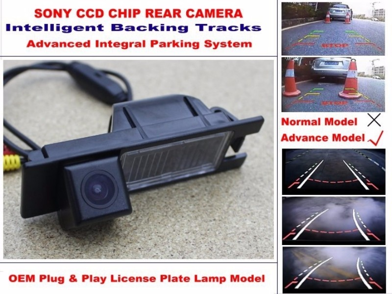 For Renault Megane 1 I 1995~2002 Smart Tracks Chip Camera  HD CCD Intelligent Dynamic Parking Car Rear View Camera (3)
