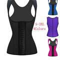 2016 Hot Sale Women Waist Shaper Corset 100% Latex Corset Sexy Women Waist Cincher Slimming Body Shaper Wear Plus Size W88011A