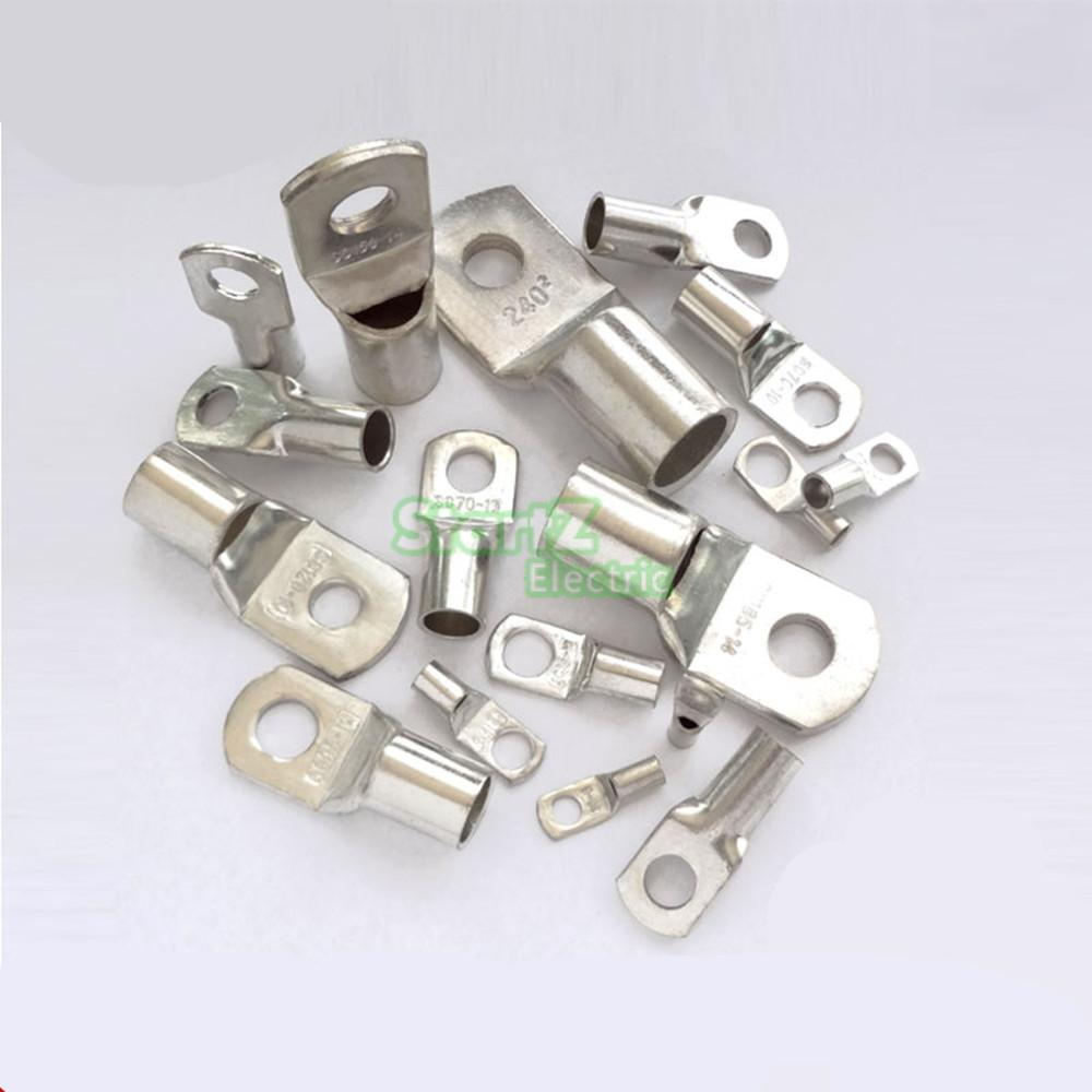 50pcs <font><b>SC35</b></font>-<font><b>8</b></font> Bolt Hole Tinned Copper Cable lugs Battery Terminals 35mm wire image