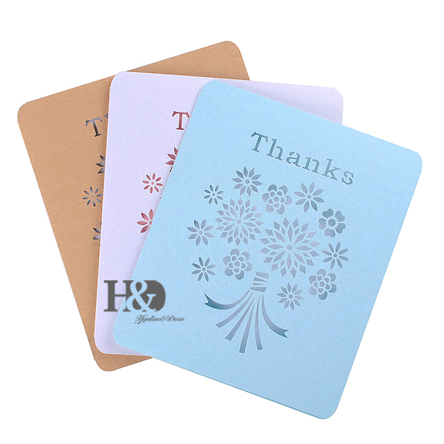 Hd Elegant Laser Cut Mini Greeting Cards Thank You Card For