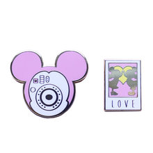 Polaroid Keras Enamel Pin Ajaib Mouse Ciuman SET(China)