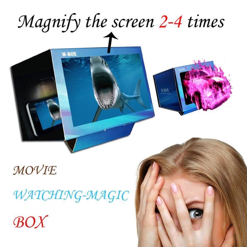 box Easy Setup Virtual Reality Cardboard 3D Film Movie Watching magic box children casket for decorations 12.18