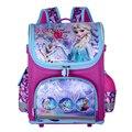 Actualización Multi-Estilo Bolsa de Mariposa Princesa Elsa Mochila Impermeable Girls Bolsas Escuela Mochila Ortopédicos para Chica mochila kids