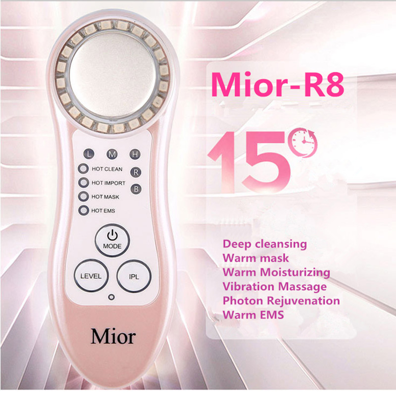 Color light ion tender skin beauty instrument face health care Deep cleansing to eliminate wrinkles EMS Remove Pouch Ionic цена
