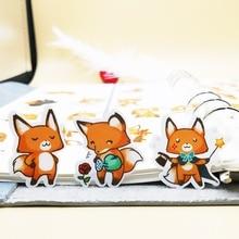 20/40pcs Cute Little Fox Daily Life DIY Sticker Diary Gift Decoration Scrap Paper Random Not Repeat