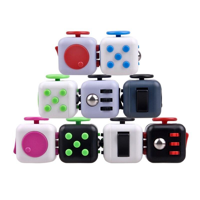 Mini Fidget Cube Toy Vinyl Desk Finger Toys Squeeze Fun Stress Reliever High Quality Antistress Stress Cube Toys #D