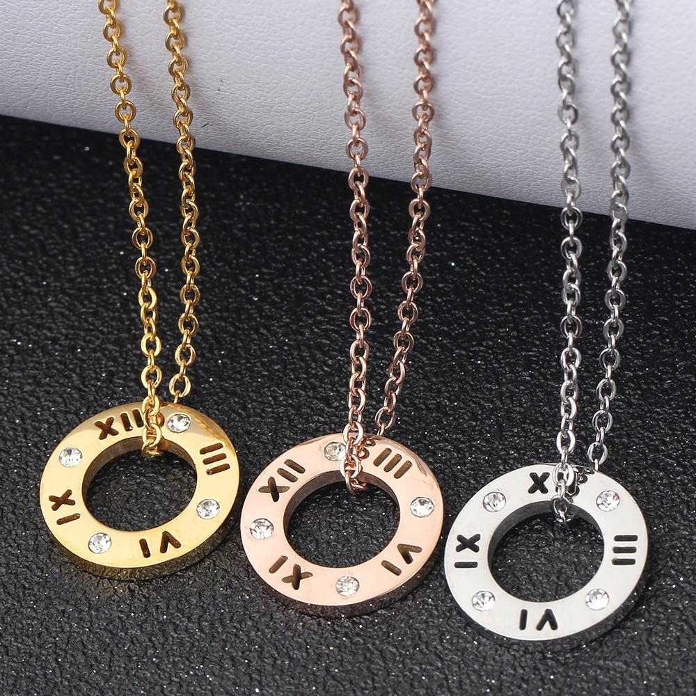 Collar de cristal de acero inoxidable 316L de tres colores de moda - Bisutería - foto 6