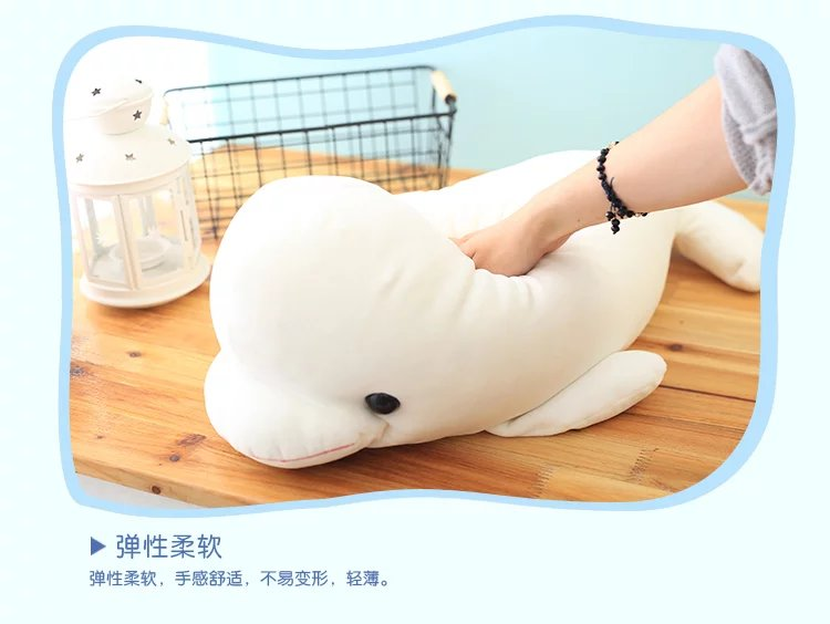 Creative 1pc 22cm white dolphin font b doll b font plush toy font b doll b