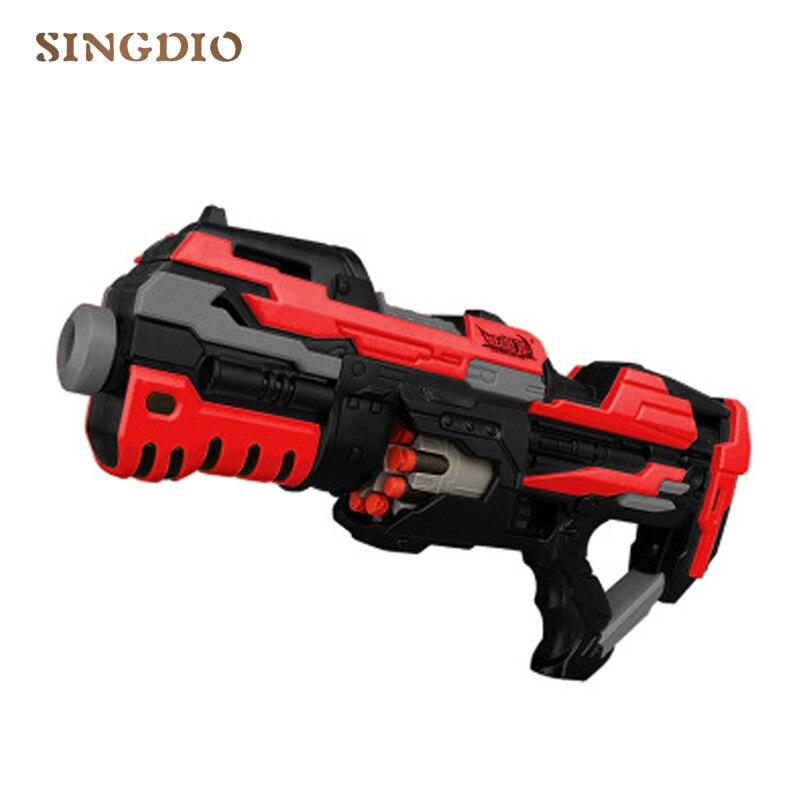 Éclat électrique balle molle pistolet garçon fille en boîte rouge feu en plein air tir en plastique jouet pistolet