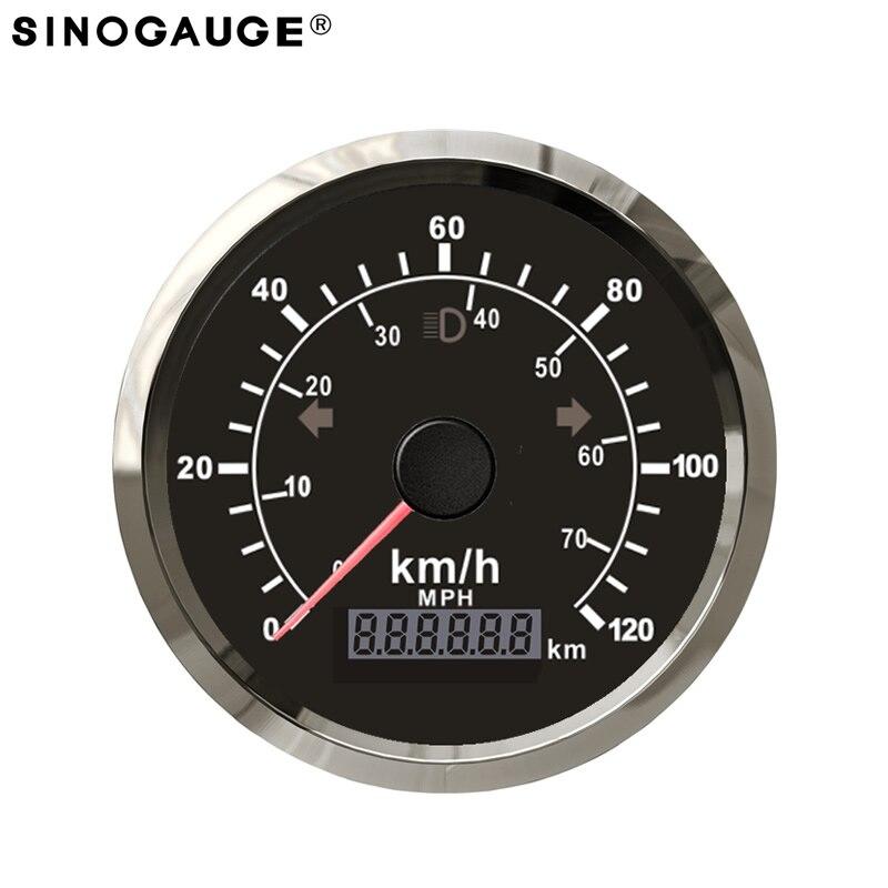 New Arrival 85mm GPS Speedometer Motorcycle 316L stainless steel Total Mileage Adjustable Waterproof IP67 Easy Installation