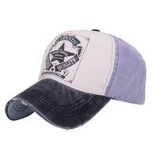 Fashion 6 Color Classic Men Women Letter Print Hat Patchwork Polo Hats Baseball Ball Cap