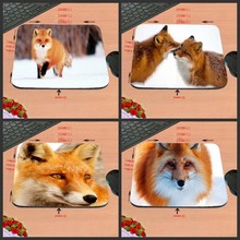Mairuige Customized Mouse Pad Black Background Lovly  Animal Foxes Snow Rubber Non-slip comfortable Gaming Mouse Mat Pad